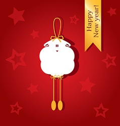 Christmas card with a picture of sheep vector image