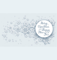 Christmas snow greeting vector
