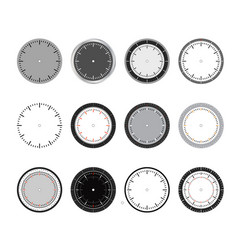 clock face set time vector image