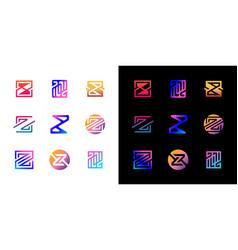 Collection logo letter z gradient color vector