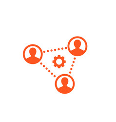 Cooperation teamwork working group icon vector