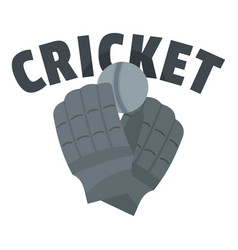 Cricket gloves logo flat style vector