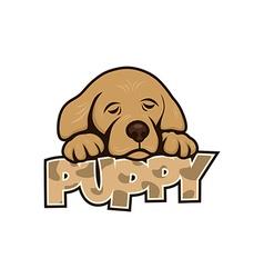 Cute little puppy vector