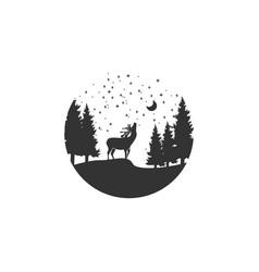 deer adventure logo design vector image