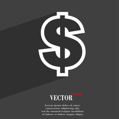 Dollar icon symbol Flat modern web design with vector image