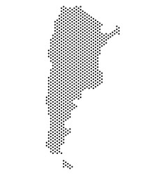 dotted argentina map vector image