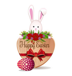 easter design with easter bunny and easter egg vector image
