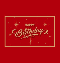 Elegant happy birthday card vector
