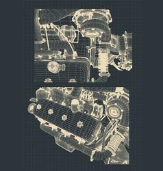 Engine blueprints vector