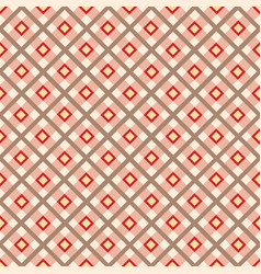 fabric ornament seamless tartan pattern square vector image