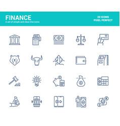 flat line icons design-finance vector image