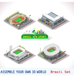 Game Set 10 Building Isometric vector