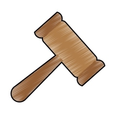 Gavel justice icon image vector