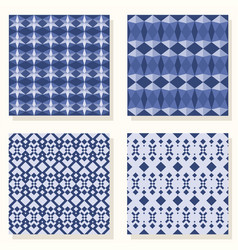 geometric set pattern vector image