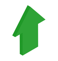 green isometric arrows growth sign for vector image