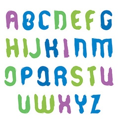 hand-painted multicolored capital letters isolated vector image