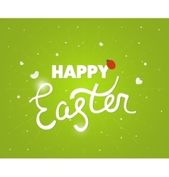 Happy Easter logo template Hand Lettering vector image