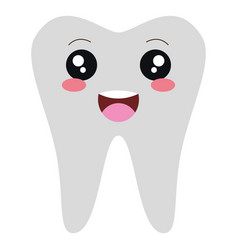 human tooth kawaii character vector image