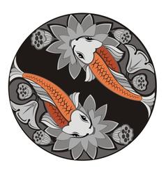 image of an carp koi vector image