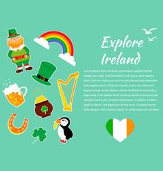 irish concept background set vector image