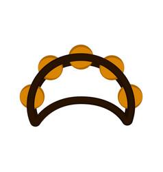 Isolated tambourine icon vector