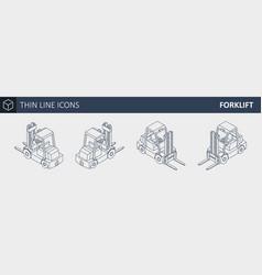 isometric forklift truck vector image