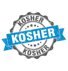 Kosher stamp sign seal vector