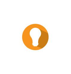 lightbulb logo template vector image