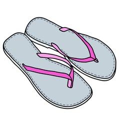 Low sandals vector image