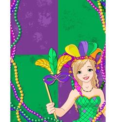 Mardi Gras Banner vector image