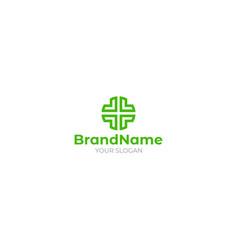 Medical green logo design vector