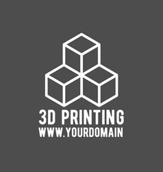 modern printer badge logotype and icon vector image