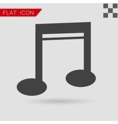 Note Icon Flat Style with red vector image