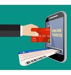 Online tickets ordering concept vector image