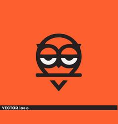 owl location gps logo vector image