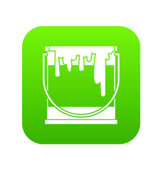 paint can icon digital green vector image