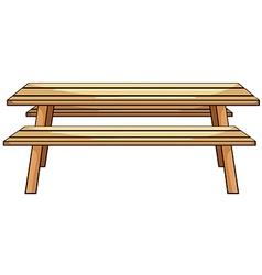 Picnic table vector