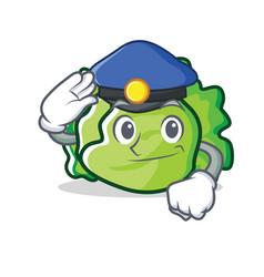 Police lettuce character cartoon style vector