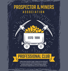 poster design template of mineral and gold mining vector image