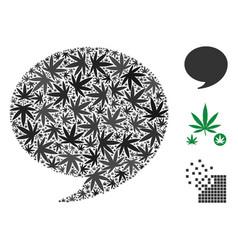 Quote composition of marijuana vector