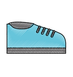 Scribble shoe cartoon vector
