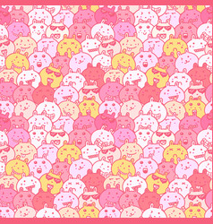 seamless pattern with lovely bunny background vector image