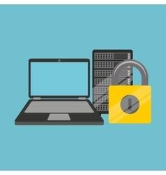 security laptop data server vector image