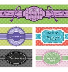 Set of vintage labels vector