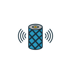 Smart speakers icon simple element from vector