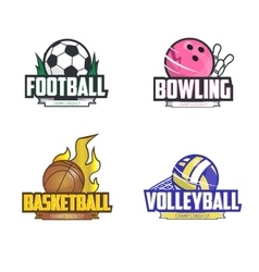 sport logo set for four disciplines vector image