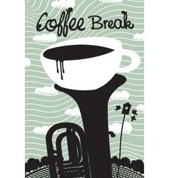 Spring coffee vector