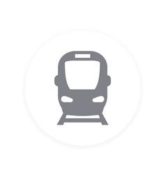 Subway public transport icon vector