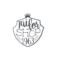Tailor Shop Vintage Emblem vector image