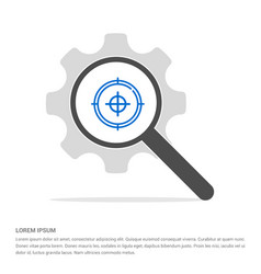 target icon search glass with gear symbol icon vector image